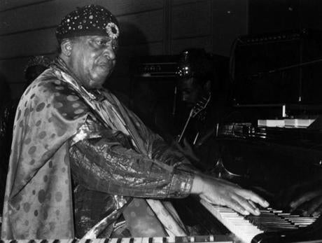 Sun Ra performed on keyboards at Nightstage June 10, 1986.