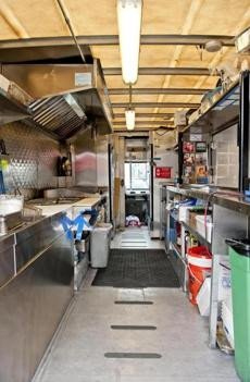 The inside of Mei Mei's food truck.