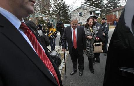 Menino left his Hyde Park home Thursday morning.