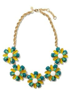 """Corsage"" necklace, $89.50 at Banana Republic, CambridgeSide Galleria, Cambridge, 617-494-4952, and other locations, bananarepublic.com"