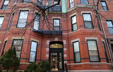 An apartment building at 300 Marlborough Street in Boston is owned by Tutunjian.