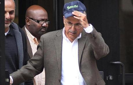 Tutunjian, leaving a Boston court in October, after a trial in a personal injury case brought against his firm.
