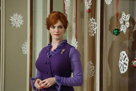 Christina Hendricks plays secretary-turned-partner Joan.