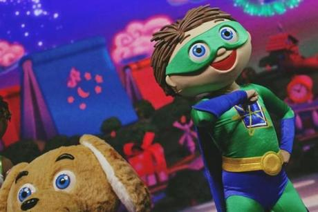 "Woofster and Whyatt are two of the superhero characters in ""Super WHY!"""