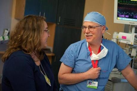 Keren Griffin spoke with Dr. Joseph Madsen after he performed laser ablation surgery on her son, Justin.