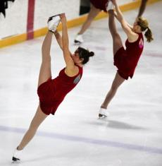 There is no TV coverage of the synchronized skating world championships, and little media coverage. But awareness of the sport is growing slowly.