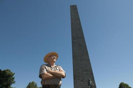 Hall visited the Bunker Hill Monument as a schoolboy.