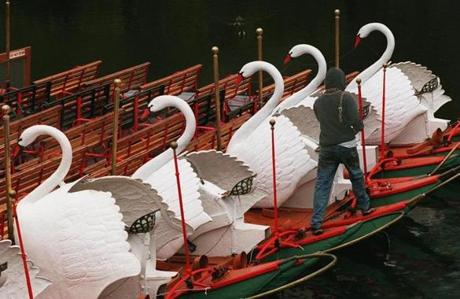 Shalane Flanagan said she loved showing her husband the Swan Boats.