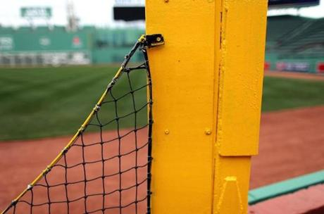 Pesky's Pole in right field sported a new coat of paint.