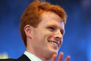 Representative Joseph Kennedy III at a rally earlier this month.