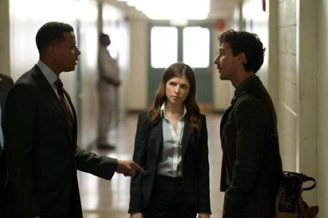 Left to right: Terrence Howard, Anna Kendrick, and Shia LeBeouf.