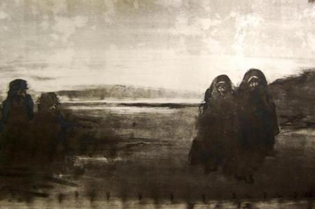"James O'Neill's monotype ""Outside of Nasiriyah."""