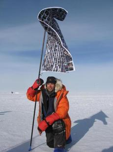 Pollock became the first blind man to race to the South Pole on skis in 2009.
