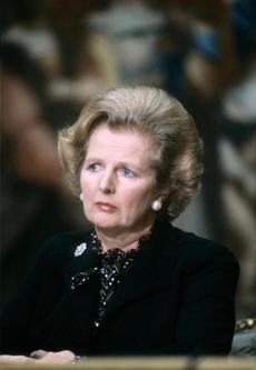 Lady Thatcher attended the Franco-British summit in Paris.