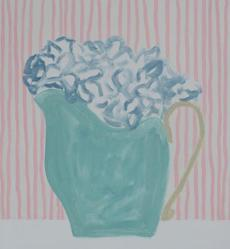 "James Case's ""Blue Flowers, Pink Stripes."""