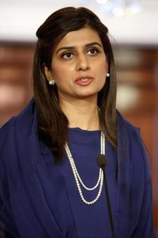 So is Pakistani Minister of Foreign Affairs Hina Rabbani Khar.