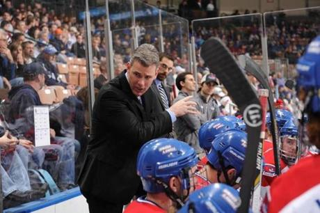 Norm Bazin on the UMass-Lowell bench.