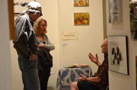 Open studios also provide a chance to talk with the artists.