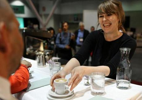 Zaida Dedolph served up her cappuccinos with a wide smile.