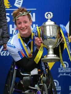 Women's wheelchair winner Tatyana McFadden.