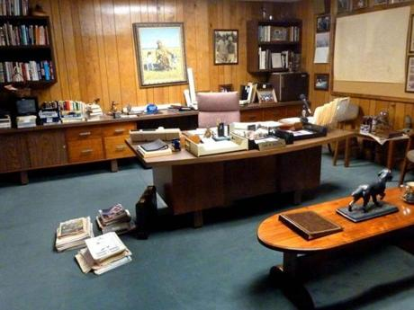 Sam Walton's office is recreated at the Walmart Visitor Center in Bentonville, Arkansas.