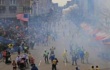 Just seconds after the first explosion rocked the area near the finish line, there was a second blast a few blocks away on Boylston Street.