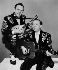 The country duo the Louvin Brothers.