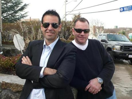 "Peter Souhleris (left) and Dave Seymour, stars of the A&E show ""Flipping Boston,"" are hooked on this real estate game."