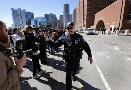 A bomb threat on Wednesday caused the evacuation of  the Moakley federal  courthouse.
