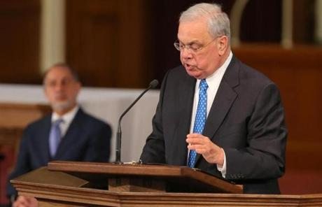"""We are one Boston. Nothing can tear down the resilience of this city,"" Mayor Thomas M. Menino said."