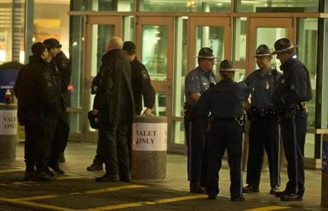 Police stood guard outside Beth Israel Deaconness Medical Center's West Campus where Tsarnaev is being held.