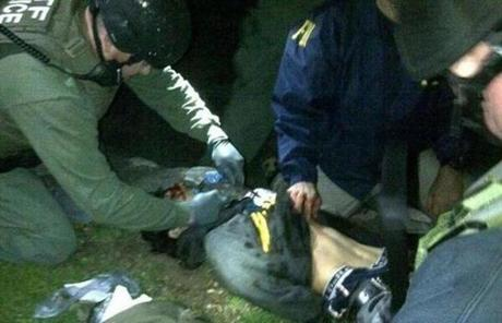 Medical workers treated Dzhokhar Tsarnaev moments after he was captured.