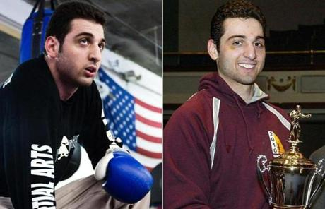 Tamerlan Tsarnaev practiced boxing at the Wai Kru Mixed Martial Arts center in Boston in 2009 (left), and received a boxing trophy in 2010.