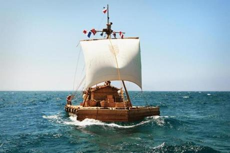 "A scene from the new movie ""Kon-Tiki."""