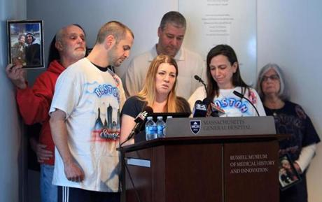 The family of Marc Fucarile on Monday thanked the staff at Mass. General, race bystanders, and first responders.