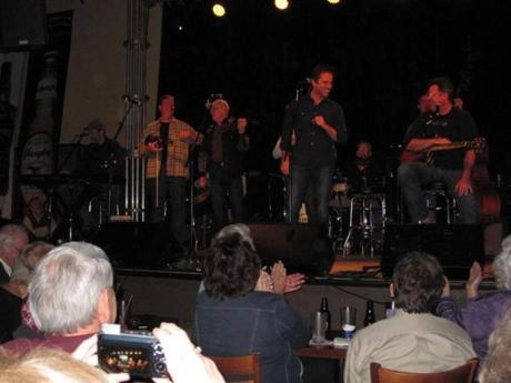 Charles Esten (center) joined Vince Gill (right) and the Time Jumpers for one of their weekly performances at the 3rd and Lindsley nightclub in Nashville.