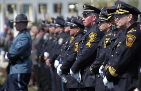 Thousands of police officers attended the memorial.