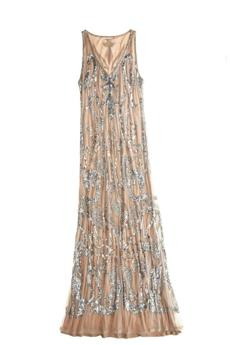 """Clarissa"" sequined embroidered maxi dress, $795 at Calypso St. Barth, 114 Newbury Street, Boston, 617-421-1887, calypsostbarth.com"