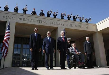 Photos Dedication of the George W Bush Presidential Library and