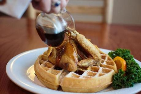 The chicken and waffle.
