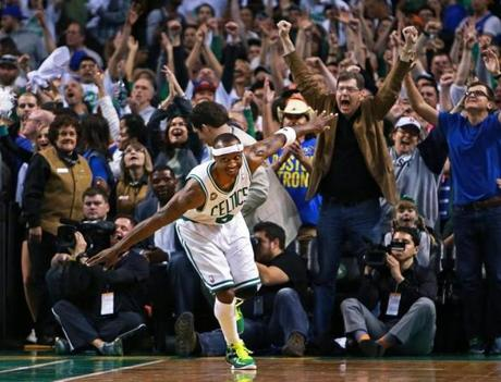 4/28/13: Boston, MA: The Celtics Jason Terry does his