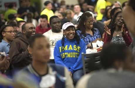 The moonlight breakfast is held for UMass Dartmouth students preparing to take their final exams the next day.