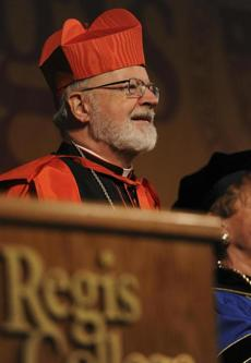 Cardinal Sean P. O'Malley addressed the graduates of Regis College.