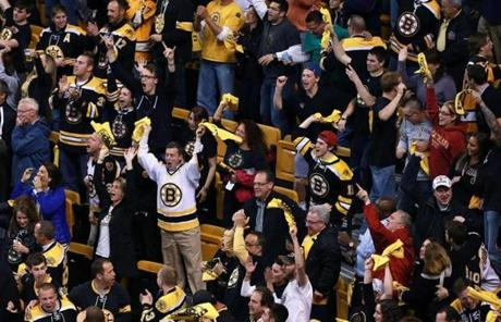 Fans at TD Garden made themselves heard after the Bruins tied the game.