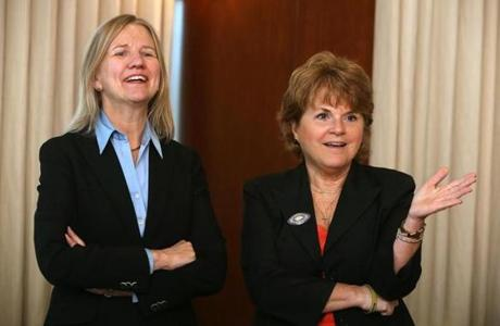Both Fay Donohue (left) and Pamela Reeve also feel it is important to have a sponsor.