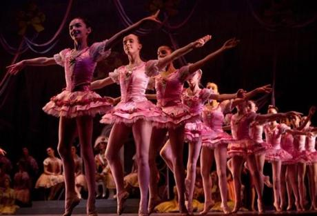Dancers from the Boston Ballet School performed in a dress rehearsal of the Boston Ballet's new production,