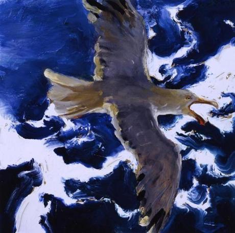 """Gull in Flight, Shrieking"" by Jamie Wyeth."