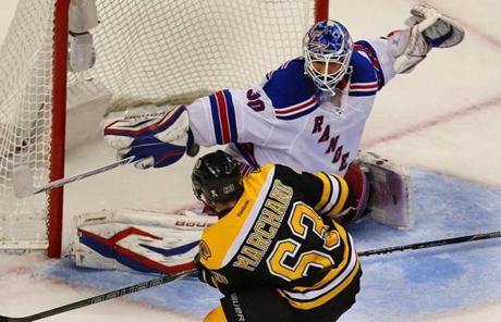 Marchand slipped the game-winner past Henrik Lundqvist 15:40 into overtime.