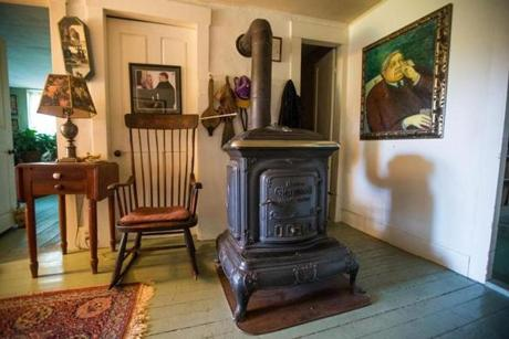 Hall's home has antique woodstoves and the feel of an old farmhouse.