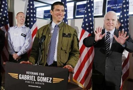 Gomez and McCain appeared at the Boston  VFW Post in Boston.